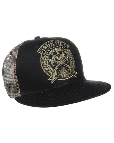 81848a53078 Iron Fist Killer Camp 6 Panel Snapback Cap Black