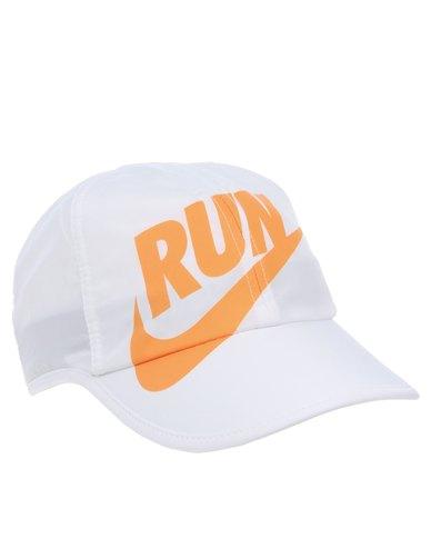 ef93302375d Nike WS Run Swoosh Featherlight Cap White