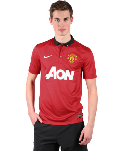 2bc2972c0e3 Nike Manchester United Short Sleeve Home Replica Jersey Red
