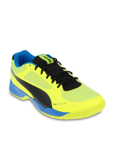 Puma evoSPEED Indoor 5 Football Boots Neon Yellow  98a6c600d39b