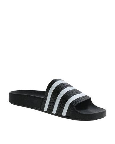 1a4425b11b67c7 adidas Adilette Slip-On Sandals Black