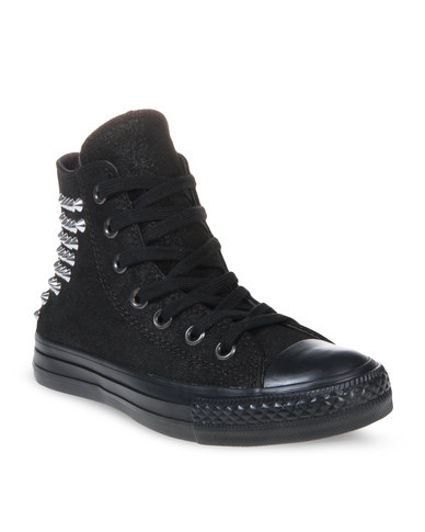 bafad9be5bae Converse Chuck Taylor All Star Sneakers With Collar Studs Black