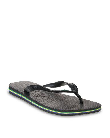 437db89b4 Havaianas Brazil Flip Flops Black