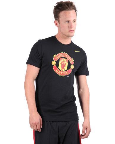 e74e1ca4a Nike Manchester United Core Crest T-Shirt Black