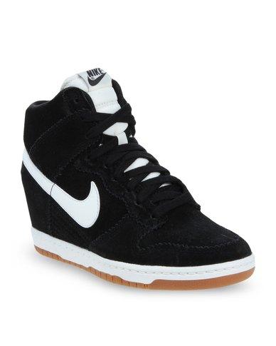 Nike Dunk Sky Hi-Top Wedge Sneakers Black  918b528011