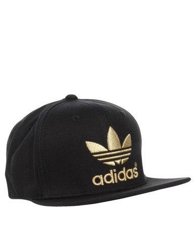 adidas Classics Tre Flat Cap Black  450578b8991