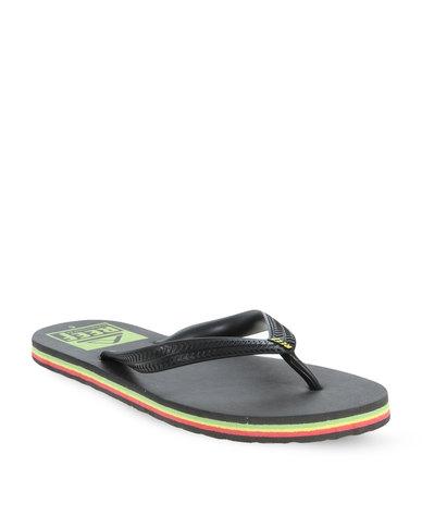 39de12a29838 Reef Brazil Trinidad Flip Flops Black