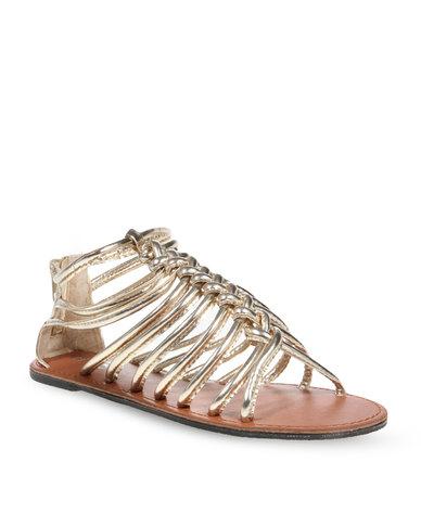 76c6a9064c1f Rage Gladiator Flat Sandal Gold