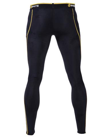 5ef18a0570996 Skins A200 Men's Long Tights Black/Yellow | Zando