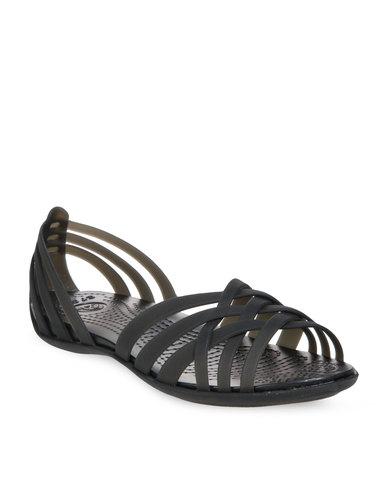 d9126a498 Crocs Huarache Flats Black