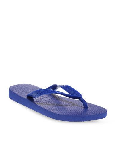 5d67fa9538e7fc Havaianas Top Flip Flops Marine Blue