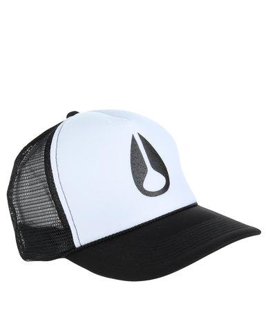 Nixon Pacific Trucker Cap Black And White  5f81a156aa0e