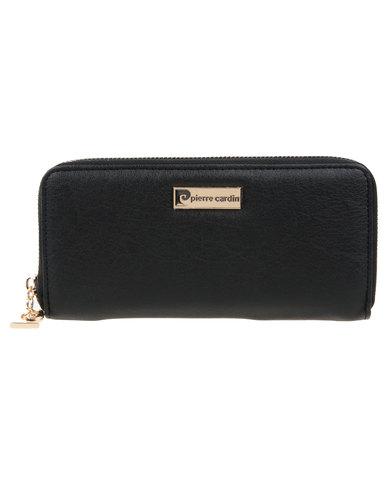 Pierre Cardin Xann Zip Around Wallet Black