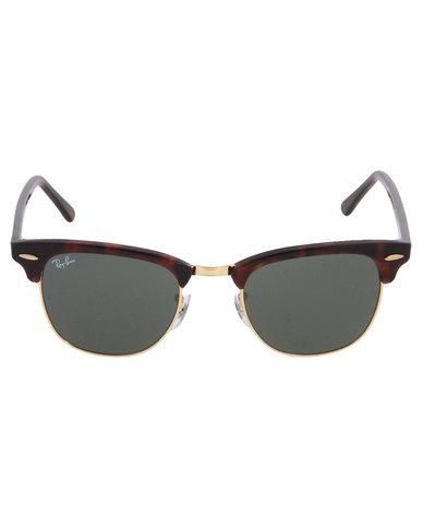 7f4ebe76d2a3a5 Ray-Ban Clubmaster Cat Eye Sunglasses Brown   Zando