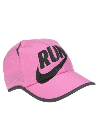 Nike Performance Seasonal Featherlight Running Hat Pink  efd9ac9be25