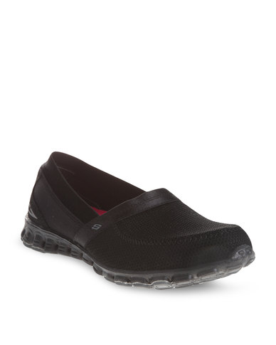 Take It Easy Skechers- Black slip-ons