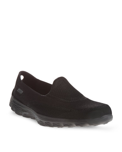 ladies black skechers