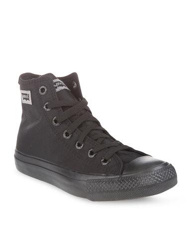 8921c8d8d0bf Levi s Dunk Pitch Hi Nylon Sneakers Black