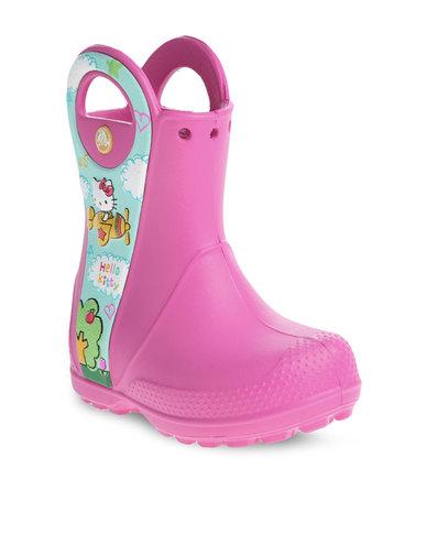 a3f7a9576 Crocs Handle It Hello Kitty Plane Rain Boots Pink | Zando
