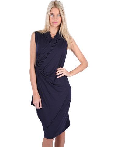 Michelle Ludek Emma Wrap Dress Navy