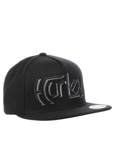 Hurley Original Snapback Hat Black  8b3c3d82d642