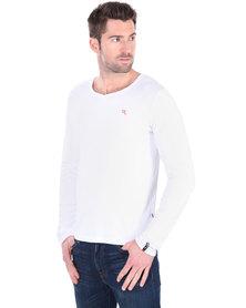 Soviet Dust Long Sleeve Basic T-shirt White