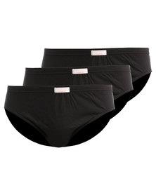 Jockey 3 Pack Plain Skants Black