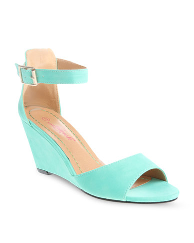 8002bab59776 Launch Strappy Wedge Heels Mint