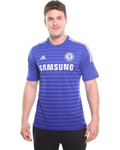 new concept 5978b f8906 adidas Performance Chelsea Football Club Jersey Blue