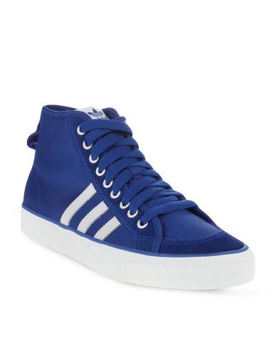 best sneakers 448b2 d3875 adidas Nizza Hi Top Sneakers Blue  Zando