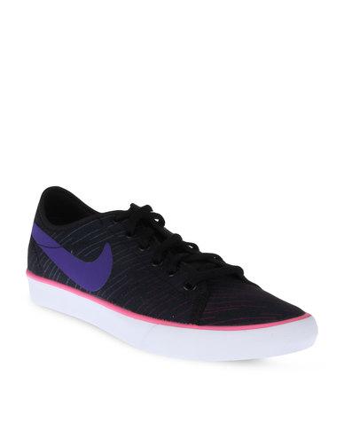 online store 6b1e7 750f3 Nike Primo Court Canvas Print Sneakers Black   Zando