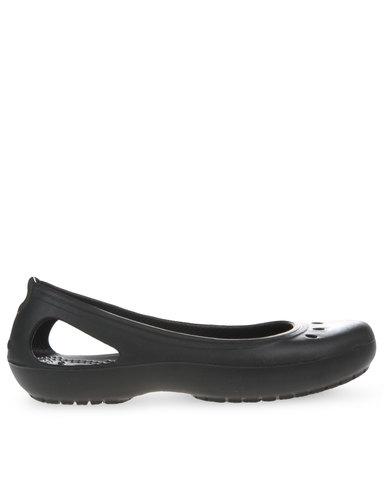 4dba0f9626 Crocs Kadee Flat Shoes Black | Zando
