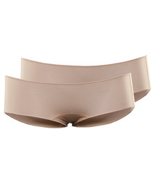 Jockey 2 Pack No Panty Line Knicker Shorts Beige