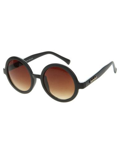 ef04469801 Funky Fish Gradient Lens Round Sunglasses Black