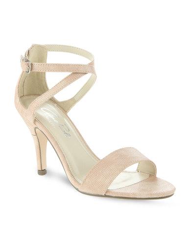 Nude Mid Heel Sandals noZ2fQlX