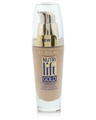 DISC L'Oreal Nutri Lift Gold Foundation Creamy Beige 150