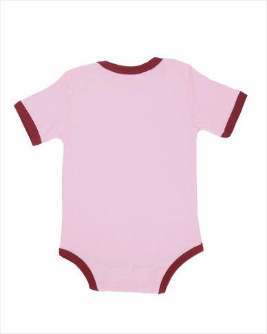 Krag Drag Keep Calm & Carry Me Girls Bodysuit Pink