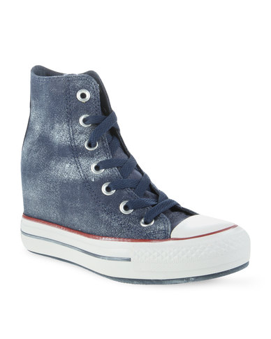 081e0118aaf3 Converse Chuck Taylor All Star Platform Plus Navy