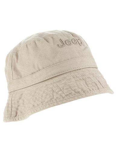 Jeep Floppy Bucket Hat Stone  6a55ae2078c