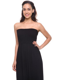 Utopia Maxi Boobtube Dress Black
