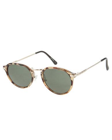 2eb276492bc Jeepers Peepers Casper Yellow Tortoise Round Sunglasses