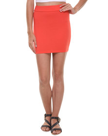 Betty Basics Kylie Mini Skirt Coral