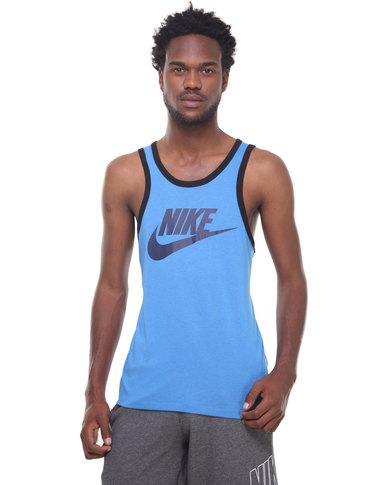 6c059e2b0430c Nike Ace Logo Tank Top Blue
