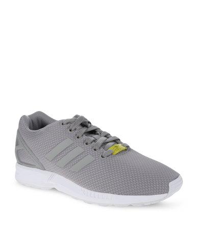 92f1f9c249e1 adidas ZX Flux Shoes Grey White