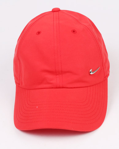 8d109ee329e ... reduced nike metal swoosh cap red d63ca 66579