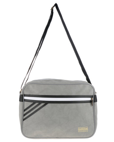 c052d79874 adidas Airliner Suede Sling Bag Grey