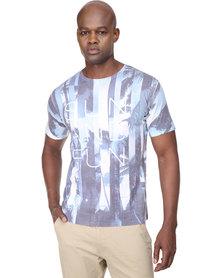 Cutty Gabriel T-Shirt Blue/White