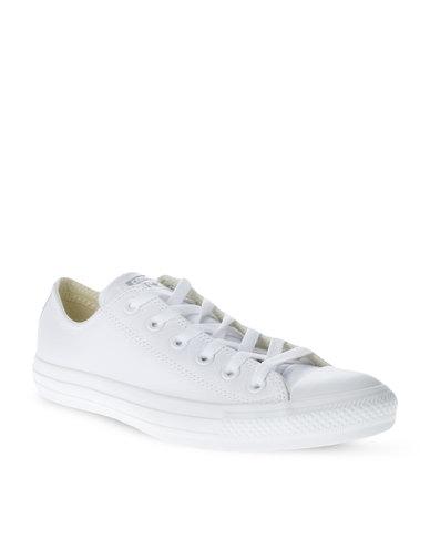 Converse Chuck Taylor All Star Leather Mono Lo Sneakers White