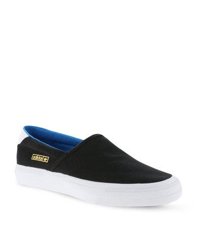 newest 6ca08 05867 adidas Adidrill Vulc Slip-on Sneaker Black  Zando