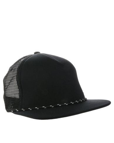 Quiksilver Peak Trucker Cap Black  3cb91426337
